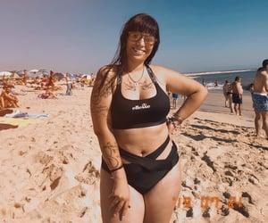 bikini, summer, and sunset image