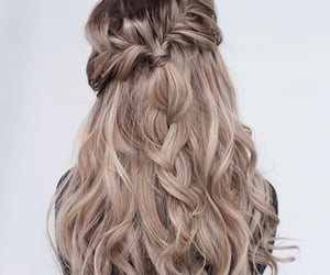 braids, blonde, and hair image