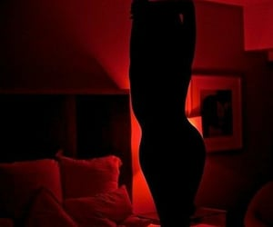 body, red, and woman image