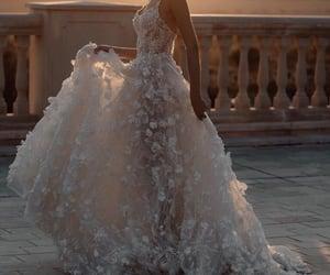 dress, fashion, and wedding image