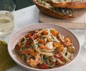 article, spaghetti, and vegetables image