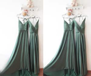 etsy, bridesmaid dress, and long satin gown image