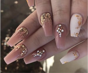 gold, jewels, and nails image