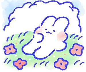 adorable, bunnies, and doodle image