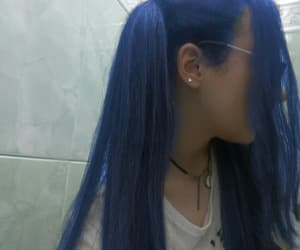 aesthetic, blue hair, and color hair image