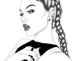 aesthetic, art, and braids image