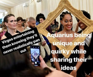 aquarius, astrology, and virgo image