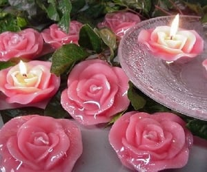 candle, pink, and aesthetic image