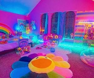 rainbow, aesthetic, and neon image