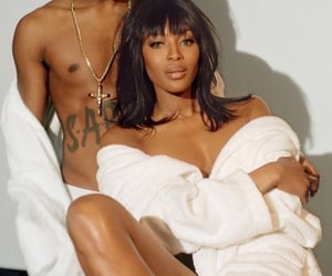 model, Naomi Campbell, and photoshoot image