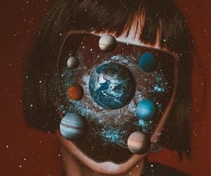 astronaut, fringe, and girl image