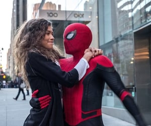 spiderman, tom holland, and spider-man: far from home image