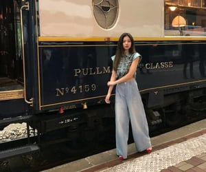 jean, train, and vintage image