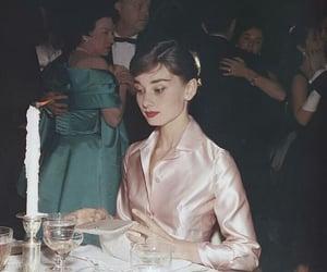 audrey hepburn, pink, and vintage image