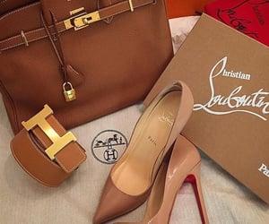 bag, brown, and christian louboutin image