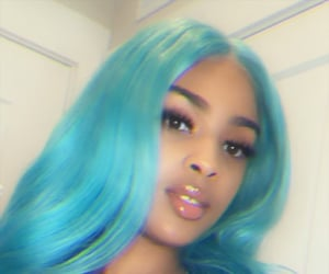 blue, frontal, and hair image