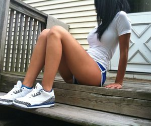 body, running shoes, and skinny image
