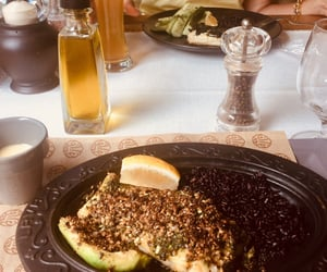 avocado, fish, and lunch image