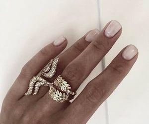 girl, nails, and rings image