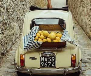 car, lemon, and italy image