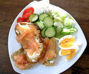 healthy and salmon image
