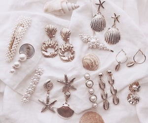 earrings, jewelry, and pearls image