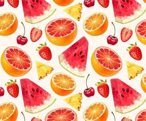 wallpaper, cherry, and fruit image