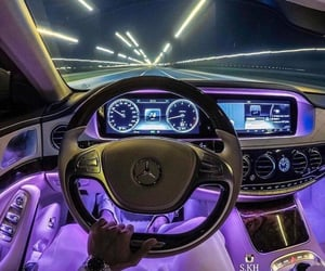 car, light, and mercedes image