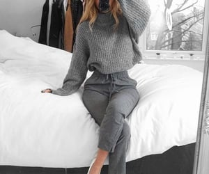 outfit, fashion, and grey image