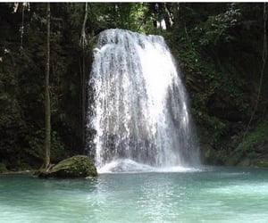 summer, tropical, and waterfall image