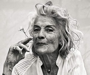 black and white, old, and woman image