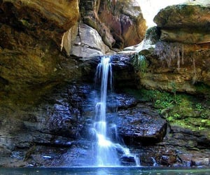 nature, view, and waterfall image