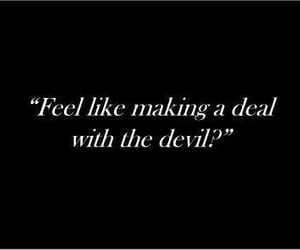 Devil, quotes, and deal image