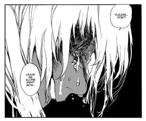 black and white, crying, and mangacap image