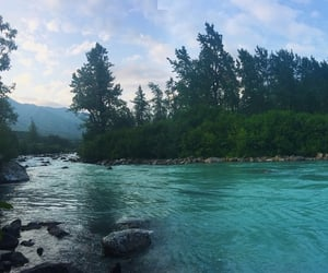 alaska, blue water, and scenery image