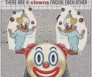 clown, meme, and reaction image
