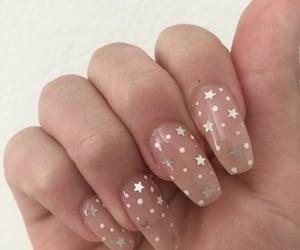 nails, stars, and nail art image