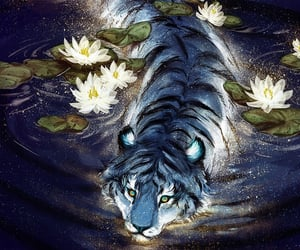 tiger and art image