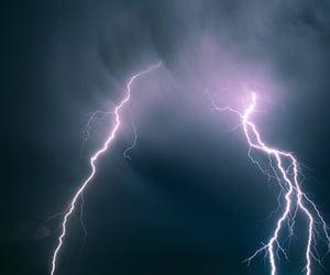 sky, lightning, and thunder image