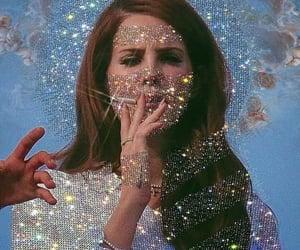 lana del rey, blue, and cigarette image