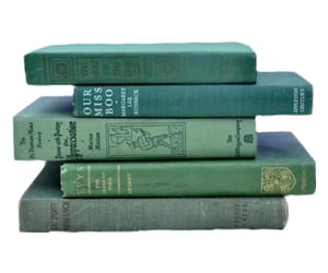 book, books, and green image