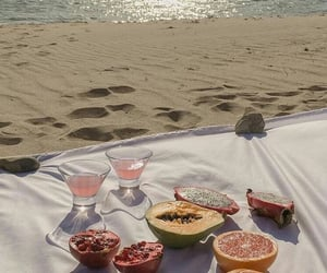 beach, fruit, and aesthetic image