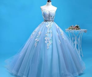 backless, prom dresses, and ball gown image