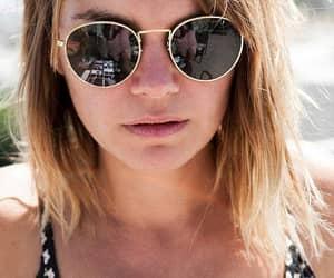 black sunglasses, etsy, and round glasses image