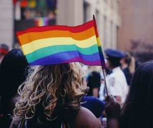 nyc, pride, and rainbow image