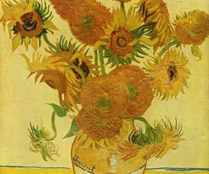 art, sunflower, and painting image