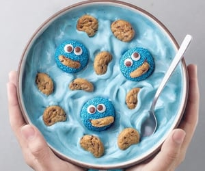 blue, Cookies, and food image