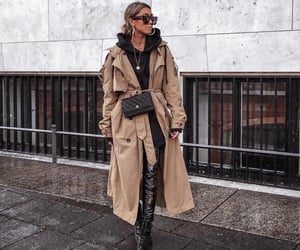 accessories, fashion, and beige coat image