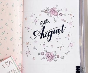 bullet journal and August image
