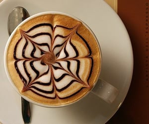 coffee, art, and chocolate image